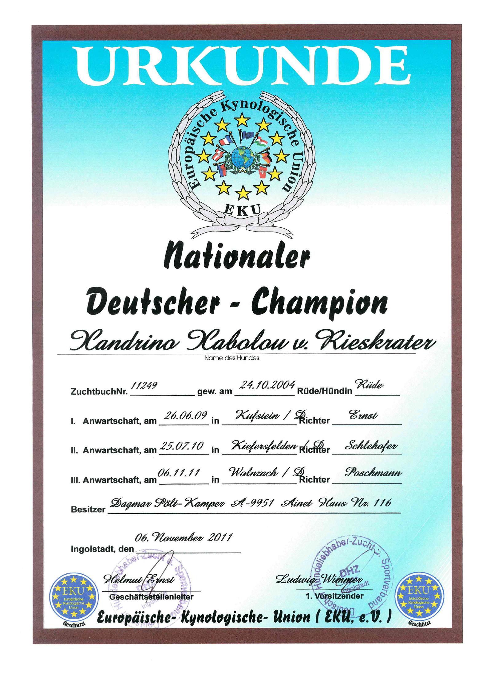 XANDRINO-Deutscher-Champion