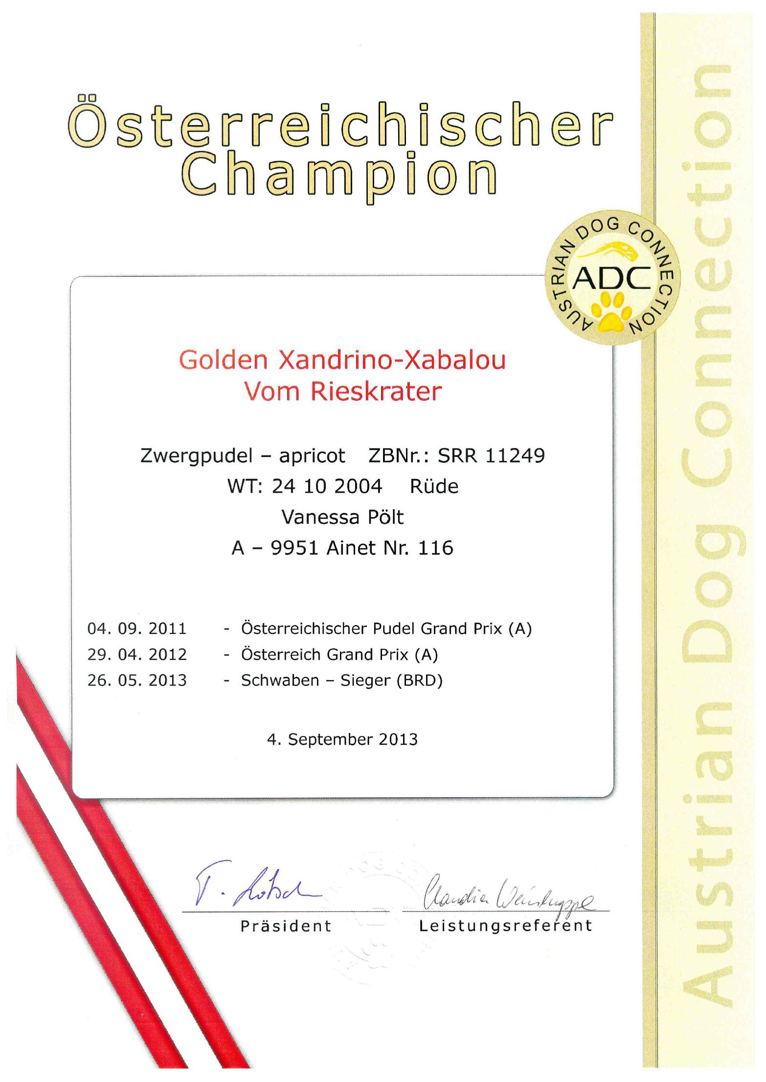 XANDRINO-sterreichischer-Champion